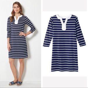 NWT Avon Janice Dress Striped Navy White Large ⚓️